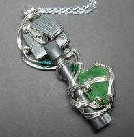 Emerald City Antique Key Necklace by sojourncuriosities