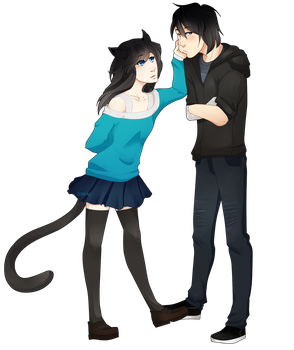 [Commission] Kuro and Rin by Citri-ne