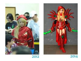 Valeera Sanguinar Before and After by LadyAngelus