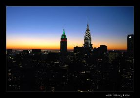 manhattan skyline by naz1