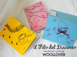 cards designed by me for WOOLLOVER,faity tales set by Davanyta