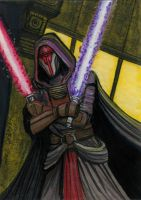 Darth Revan 2 Sketch Card by HalHefnerART