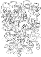 a typical digimon fanart by Chibimouto-chan