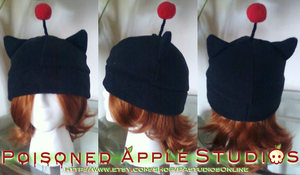 Black Moogle Fleece Hat by kuramachan