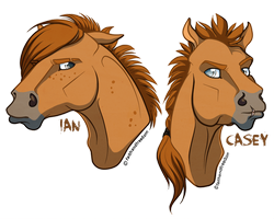 Ian and Casey -horse versions- by faithandfreedom