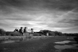 Rhuddlan Castle River by leeislee