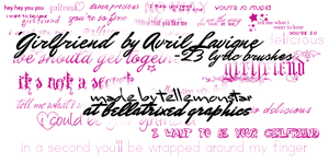 'Girlfriend' lyrics brushes by tellemonstar