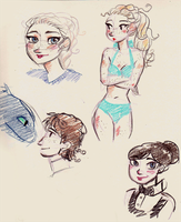 Colored Pencil Doodles by maybelletea