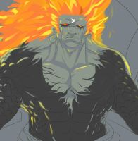 Demise On His Throne WIP(cropped down/lowres) by NathanAdonis