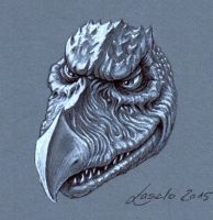 Skeksis Chamberlain Sketch THE DARK CRYSTAL by Skulpturen
