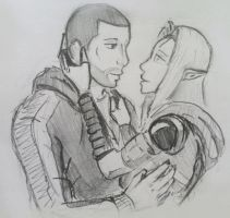 Tali x Shepard (39) by spaceMAXmarine