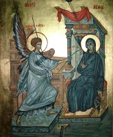 Annunciation by painterflipper