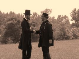Pres. Lincoln and Gen. Grant by Windego