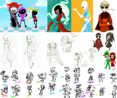 Sketchdump Fa11 : Homestuck by PsypherHeal