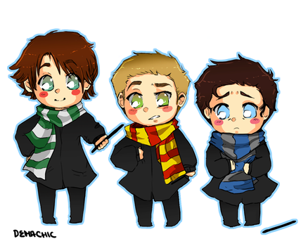 Supernatural - Harry Potter by Demachic