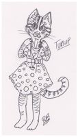 Draw Your Cat in a Dress Day - Turnip by 88pixiegirl88