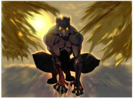 Black Panther color by Dariustheruler