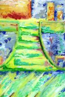 Abstract: Light Staircase by Tobyana
