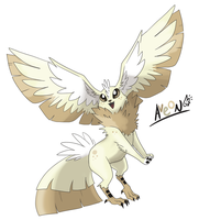 Eeveeloution: Flying-Type Aveon by GaelicKitsune