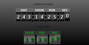 Countdown Timer and Clock by flashdo