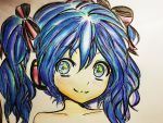 Hatsune Miku drawing by Vocalandroid01