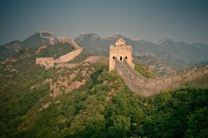 Panoramic view of the Great Wall of China by kulesh