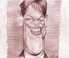 Caricature sketch Matt Damon by nelsonsantos