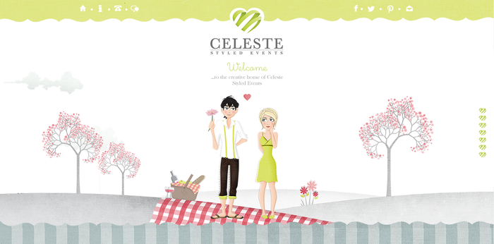 Celeste Styled Events Website by BranchDesigns