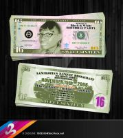 Sweet 16 Money Invitation by AnotherBcreation