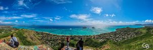 Top of Pillbox Hiking Trail Lanikai by DJKneo