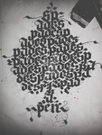 Spades Calligraphy Calligram (1/4) by Milenist