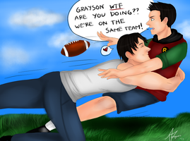 .Request. DC: Football Tackle by AlvinDraper
