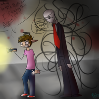 Happywafflegaming Casey in Slender by FennceWarrior