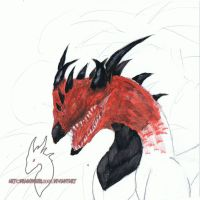 red dragon by Dark-Fire-Dragoness