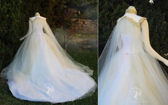 Goddess of Angels Gown Back View by Firefly-Path