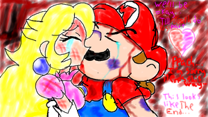 Mario and Peach's last moment by World9-2Productions