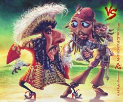 Hook VS Jack Sparrow by AnthonyGeoffroy