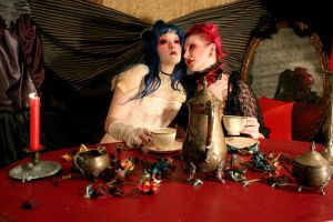 Ugly and Xanthia teaparty by uglyshyla