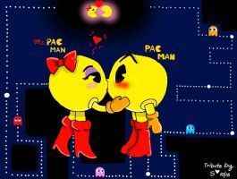Pac Man and Ms.Pac Man by Rockgirl-Savvy