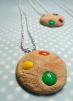 Candy cookie necklaces by kawaiibuddies