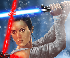 Rey - The Force Awakens by sugarpoultry