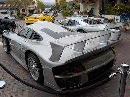 Silver Arrows 1998 Porsche GT1 rear by Partywave