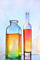 colored bottles by Anti-Pati-ya