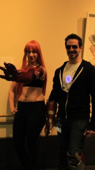 Pepper Potts and Tony Stark by blissfulshadow