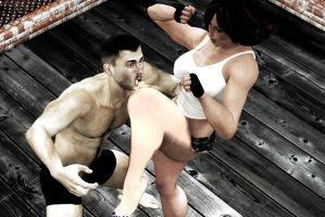 Cage Confrontation 02 by therealmonty