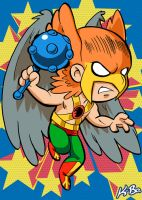 Super Powers Hawkman Art Card by K-Bo. by kevinbolk