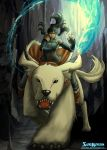 Korra and Naga In The South Pole Cavern by SolKorra