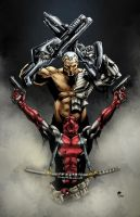 Deadpool and Cable by RSB13