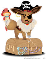 Pirate Eevee - Buried Treasure For Charity Collab by TheGalleryOfEve