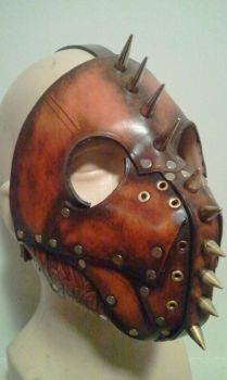 Hell hound leather mask by Skinz-N-Hydez